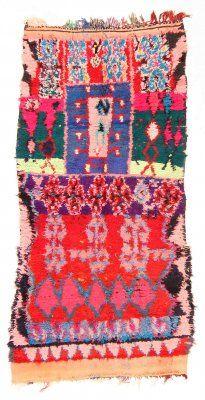 Marokkaanse+Berber+tapijt+Boucherouite+225+x+100+cm