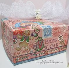 What a beautiful Nutcracker Sweet altered box by @Lyn Bernatovich! Stunning! #graphic45
