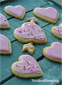 Super simple vanilla sugar cookies, perfect for a special someone on Valentine's day!