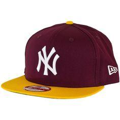 New Era Cotton Block Cap NY Yankees maroon/gold ★★★★★
