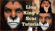 Lion Kings Scar Makeup Tutorial ♡ Halloween 2015   MommaMakeup Halloween Playlist, Halloween 2015, Halloween Makeup, Halloween Costumes, Lion Makeup, Scar Makeup, Disney Villain Costumes, Lion King Costume, Lion King Jr