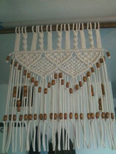 Beautiful Grande Macrame tenda fatta con cordino in polipropilene mm bianco Larghezza cm pollici Lunghezza u Pinteres u