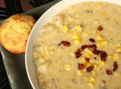 Potato Corn Chowder With Kale And Bacon | Corn Chowder, Chowders and ...