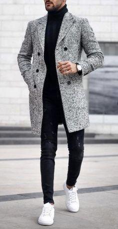 This is Fashionable winter mens fasion Stylish Men, Men Casual, Style Masculin, Mens Fashion Suits, Male Fashion, Fashion Trends, Male Winter Fashion, Fashion Logos, Fashion Shirts