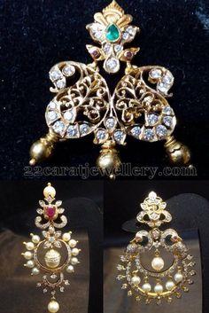 Jewellery Designs: Diamond Pendant and Chandbalis
