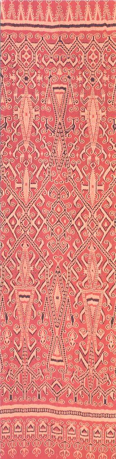 Pua kumbu, ritual cloth (detail) Indonesia, West Kalimantan, Kantu or Mualang people, 19th or early 20th century. The Textile Museum, Washington, DC. http://www.textilemuseum.org/