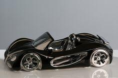 Porcelánové auto Cabrio  čiernostrieborné Vehicles, Autos, Convertible, Car, Vehicle, Tools