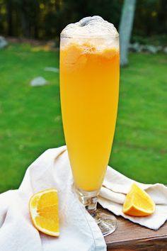 Mimosa Sorbet...champagne, orange sorbet