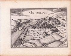 Gravure-XVIIe-Montmelian-Savoie-Christophe-Tassin-1634
