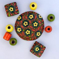 Yellow Flowers by golemstudio on Etsy