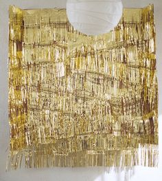 Gold PHOTO BOOTH Backdrop, Garland for Parties, Weddings, New Years . . .  Marriage Ceremony, Wall Art, Home Decor 20 ft strips. $19.00, via Etsy.