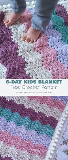 Chevron Crochet Blanket Pattern, Crochet Ripple Blanket, Crochet Baby Blanket Free Pattern, Granny Square Crochet Pattern, Free Crochet, Bavarian Crochet, Crochet For Boys, Easy Projects, Crocheting