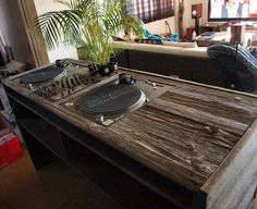 Wooden DJ booth