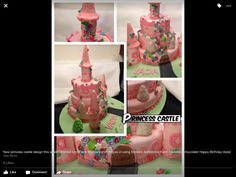 Princess Castle, Birthday Candles, Fondant, Cake Decorating, Happy Birthday, Cakes, Chocolate, Learning, Desserts