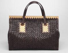 Ebano Nero Intreccio Tricot Wool Bag From Bottega Veneta