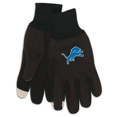 NFL Wincraft Detroit Lions Tech Gloves-Black