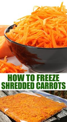 Freezing Carrots, Freezing Vegetables, Veggies, Carrot Recipes, Jelly Recipes, Raw Food Recipes, Drink Recipes, Freezer Cooking, Freezer Meals
