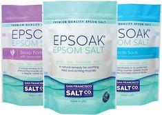 Ultimate Epsoak Epsom Salt Bundle - 3 pack of Sleep Formula Muscle Soak Original Unscented Epsom Salt Uses, Epsom Salt Bath, Salt Flush, Epsom Salt Magnesium, Magnesium Sulfate, Spa Shower, Bath Soak, Bath Salts