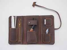 Handmade leather pipe pouch  by TUMABROTHERS on Etsy