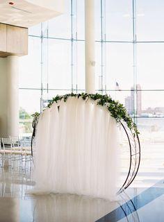 Modern wedding arch: http://www.stylemepretty.com/little-black-book-blog/2016/10/20/modern-romantic-indoor-wedding-virginia/ Photography: Michael and Carina - http://www.michaelandcarina.com/