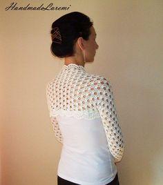 Ivory BRIDAL SHRUG BOLERO / Wedding  Lace Bolero by HandmadeLaremi, $79.00