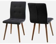Krzesło Frida ciemnoszara tkanina z jasnoszarymi bokami Actona H000014094