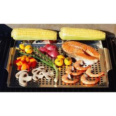 Chefmate® Grill Topper - Stainless Steel - for dad for Christmas?
