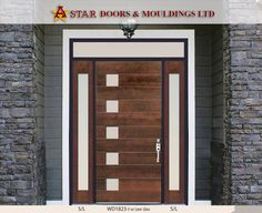 Front house door with laminate glass