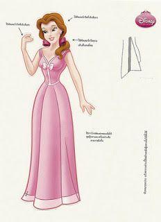 Senhorita Senhorita Bonecas de papel: bonecos da Disney Foreign Princesa de papel
