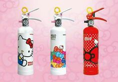 Sanrio is selling Hello Kitty Fire Extinguishers. Because if there's one person I trust when it comes to fire, it's a teensy little cartoon cat with no mou Hello Kitty Kitchen, Hello Kitty Items, Hello Kitty Collection, Kawaii, All Things Cute, Fire Extinguisher, Pretty Cats, Little Girls, The Incredibles