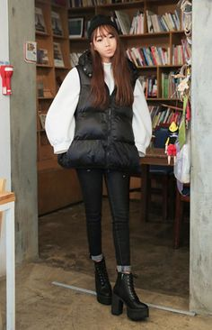 Casual Hooded Padding Vest