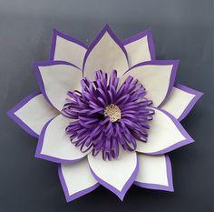 Paper flower LOTUS/Paperflower wall/Wedding backdrop/Christening/Birthday party/Sweet table/Sweet…