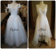 6 Ways to Transform Your Thrifted Wedding Dress - 6 Ways to Transform Your Thrifted Wedding Dress - Old Wedding Dresses, Diy Wedding Dress, Elegant Wedding Dress, Diy Dress, Wedding Gowns, Wedding Ideas, Dress Makeover, Diy Kleidung, Dress Alterations