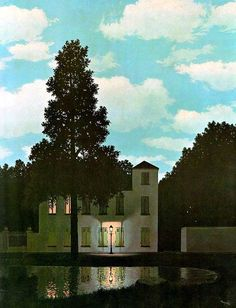 Rene Magritte´s Empire of Light, 1953-54 - quiet surrealism at its best.