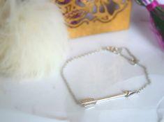 Items similar to Silver arrow bracelet, sterling silver angel wings bracelet, symbol bracelet on Etsy Angel Wing Bracelet, Arrow Bracelet, Perfect Gift For Her, Gifts For Her, Sale 50, Sterling Silver Bracelets, Wings, Perfume, Jewels