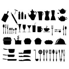 "Kitchen ""cookware"" silhouette/cricut cut files. FREE!"