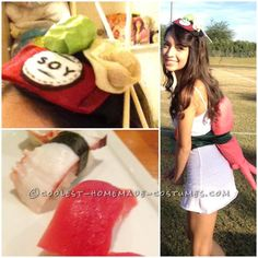Original and Fun Homemade Costume: A Piece of Sushi!... This website is the Pinterest of costumes