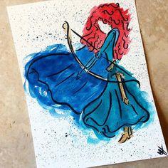 Credit to creator - Beautiful Merida art! Credit to creator - ? Disney Princess Merida, Disney Princess Drawings, Disney Sketches, Disney Drawings, Cartoon Drawings, Cute Drawings, Art Sketches, Drawing Disney, Disney Princesses