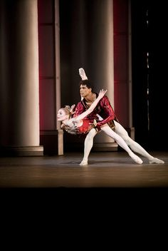 "Sarah Lamb and Carlos Acosta in ""Rubies"" from Balanchine's ""Jewels."" Photo © Johan Persson / ROH."