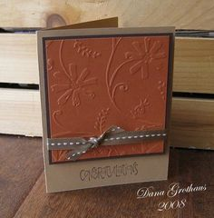 Image result for handmade cards darice with sympathy embossing folder