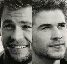 The Hemsworth brothers... 4 please, Two to eat here and two to go... <3