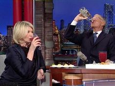 ▶ David Letterman with Martha Stewart, Deviled Eggs and Vodka - YouTube  So funny!