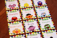 Sesame Street  Favor or Gift Tags  Set of 30 by erinink on Etsy, $14.00