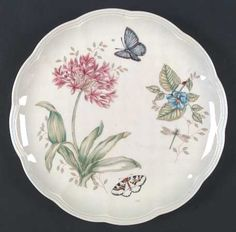 Dinner Plate in the Butterfly Meadow pattern by Lenox China