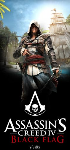 Simple poster with Edward Kenway Assassin's Creed Poster (Large) - Edward Arte Assassins Creed, Assassins Creed Black Flag, Asesins Creed, All Assassin's Creed, Assassin's Creed Black, Assassin's Creed Wallpaper, Playstation, Edwards Kenway, Best Games