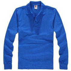 9b7e1a32d32 2018 New Fashion Brand Men Clothes Solid Color Long Sleeve T Shirt Man  Leisure Cotton T