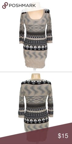 Tribal Print Bodycon Dress PERFECT for fall!! This is one beauty you won't regret adding to your closet!  10% of the proceeds are donated to HOWMS.ORG, a charity devoted to building homes for orphans, widows, and the elderly in Malawi, Africa. Dresses Midi