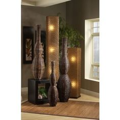 Shop for Abilene Modern Geometric Transitional Brown Indoor Floor Lamp. Get free delivery On EVERYTHING* Overstock - Your Online Lamps & Lamp Shades Store! Asian Lighting, Asian Lamps, Indonesian Decor, Design Minimalista, Asian Furniture, Oriental Decor, Ethnic Decor, Arc Floor Lamps, Asian Home Decor
