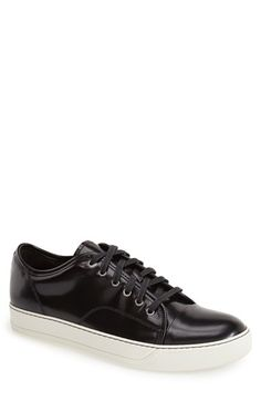 Lanvin Glossy Low Top Sneaker (Men) available at #Nordstrom