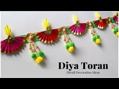 Diya Decoration Ideas, Diwali Decoration Items, Diwali Decorations At Home, Easy Christmas Decorations, Festival Decorations, Diwali Diy, Diwali Craft, Door Hanging Decorations, Paper Decorations